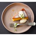Orange olive oil cake, blood oranges & crème fraiche